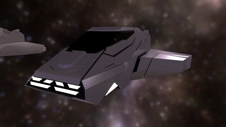 Spaceship low poly 3D Model