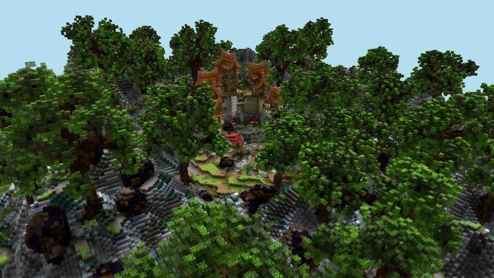 Minecraft Fantasy Portals Castle 3D Model