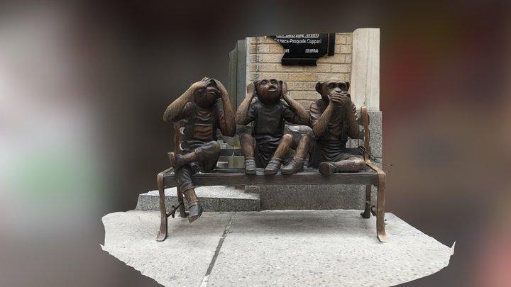 Monkeys chilling 3D Model