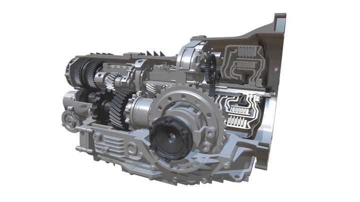 Transmission Cutaway 3D Model