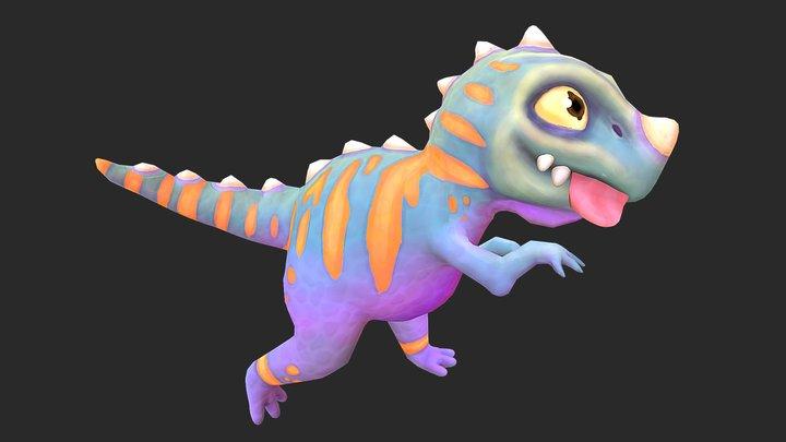 Baby Dinosaur | Hand Painted 3D Model