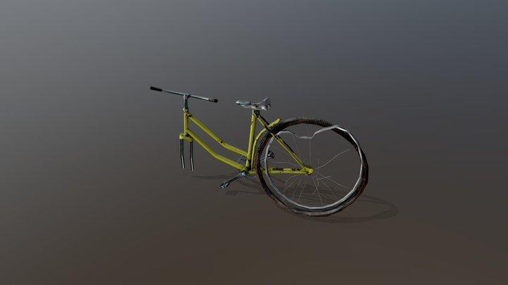 Broken Bicycle 3D Model