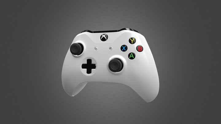 Xbox One S Controller for Element 3D 3D Model