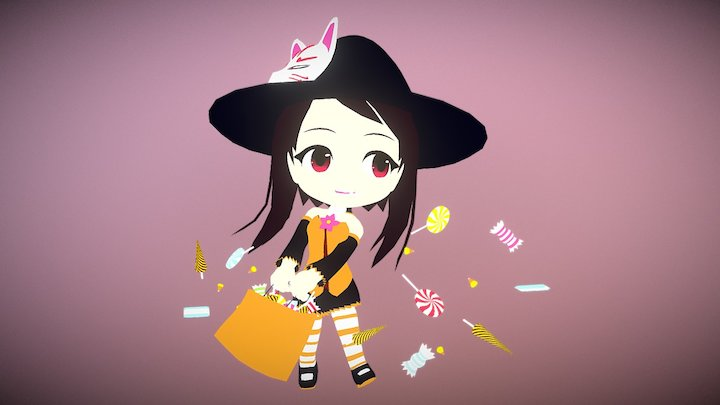 Tomoka Halloween 3D Model