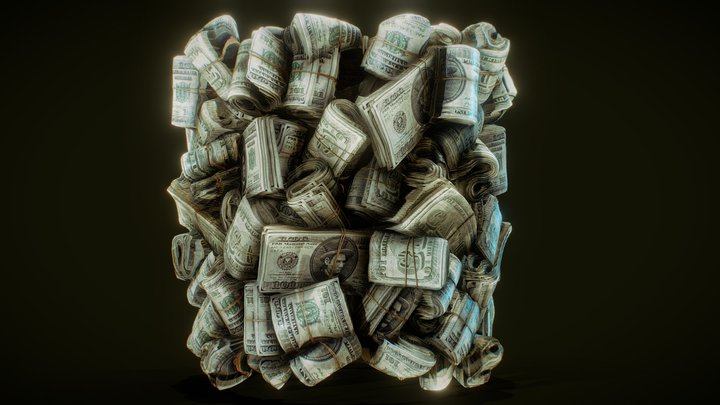 Money Stack Material based on ProceduralTextures 3D Model