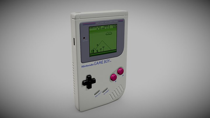 Original Nintendo GameBoy 3D Model