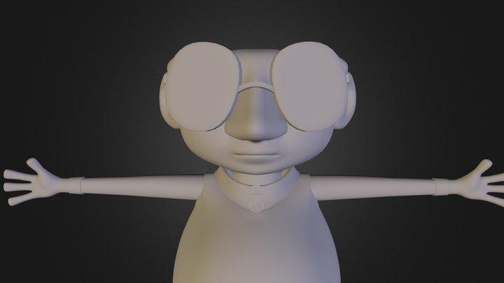 """Superclaim"" Student Film Main Character 3D Model"