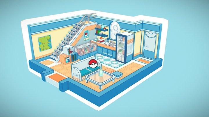 Pokemon Kitchen 3D Model