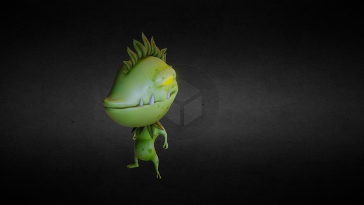 Seedius: Our creature for videogame 3D Model