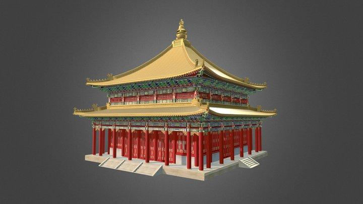 Model of the Golden Temple, Wan fa Gui yi Hall 3D Model