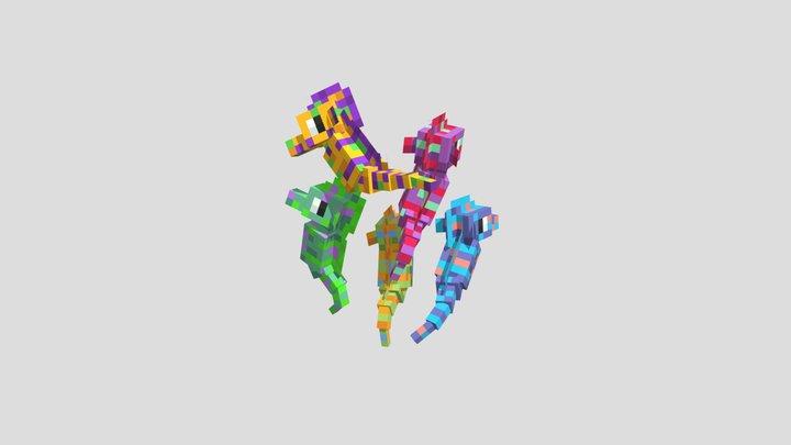 Seahorses 3D Model