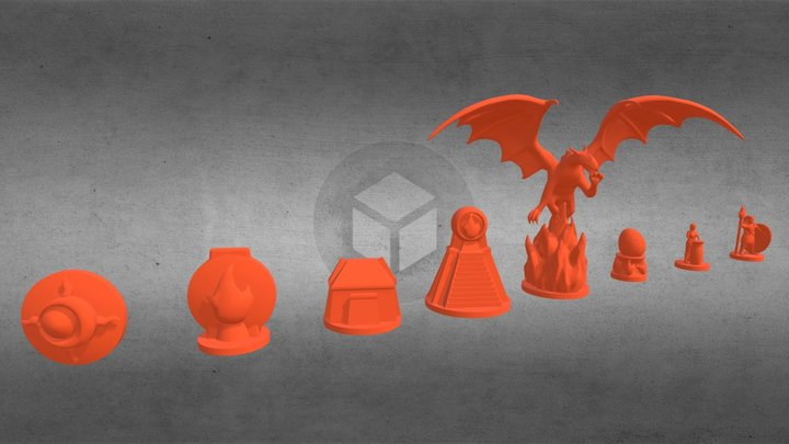 Dawn of Gods: Fire Cult miniatures 3D Model