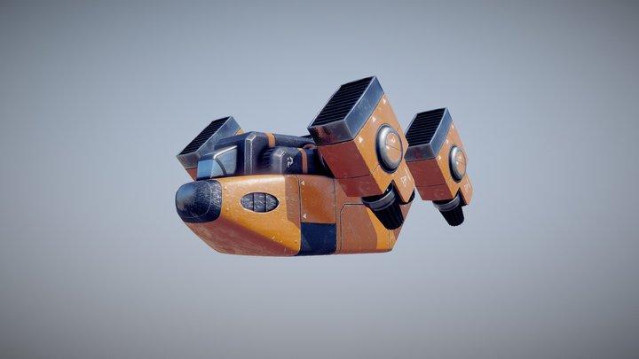 Scifi Dropship 3D Model