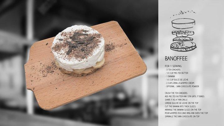 Banoffee recipe 3D Model