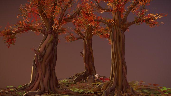 CoolPaintrVR - Little forest 3D Model