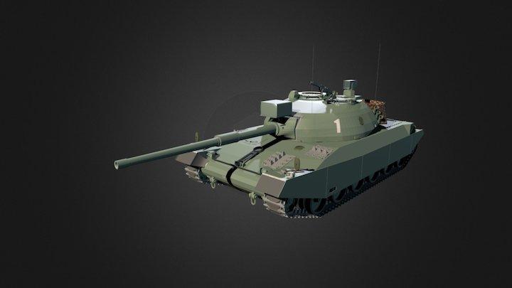 Panzer 74 Variante A (Grossturm) 3D Model
