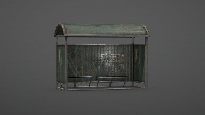 Bus Stop - low 3D Model