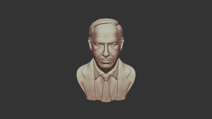 Benjamin Netanyahu 3D Sculpture 3D Model