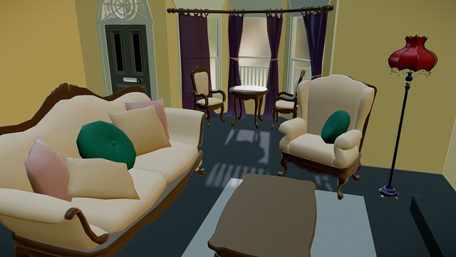 Victorian House_First Person View recommend 3D Model