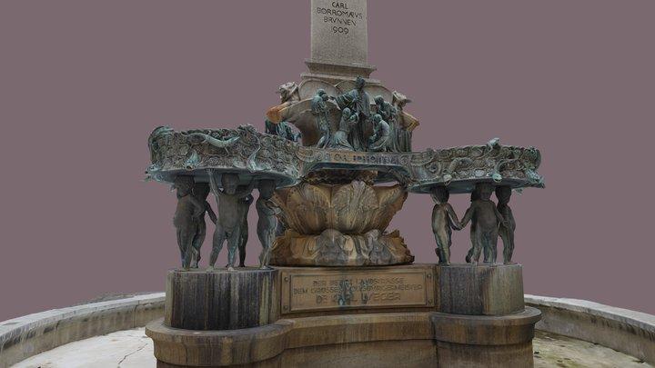 Karl-Borromäus-Brunnen 3D Model