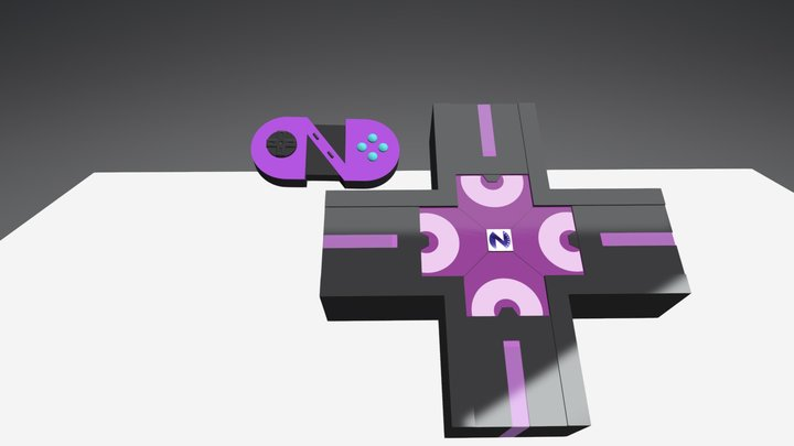 Neptunia Console and Gamepad WiP 3D Model