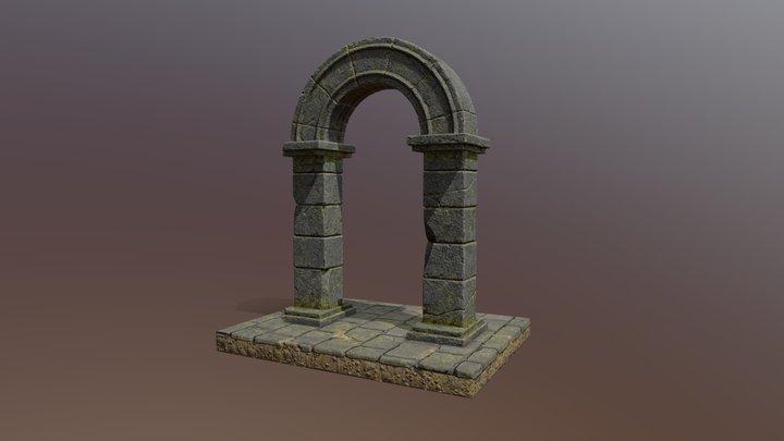 Stone Arch PBR 3D Model