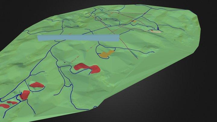 Mangalore Oil Field - Optimized TIN, 95% 3D Model