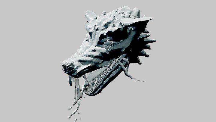 Wolf Rage Inktober Day16 Wild 3D Model