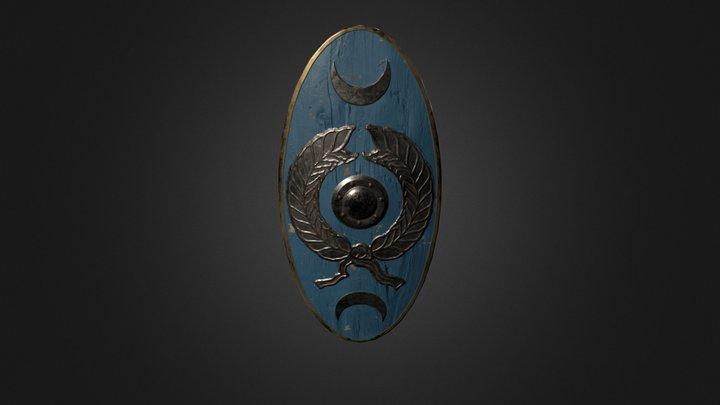 Cetratus - Roman shield 3D Model