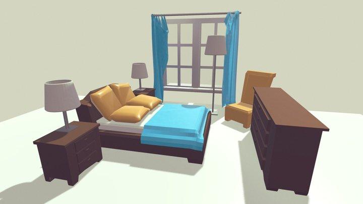 Bedroom scene test 3D Model