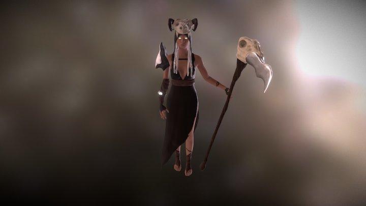 Ancient Death Goddess 3D Model