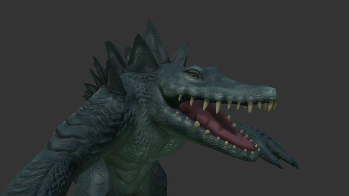 Crocodile Melee 3D Model