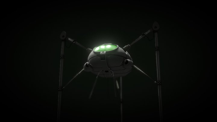 The War of the Worlds: 1978 Fighting machine 3D Model