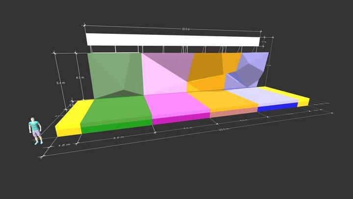 Muro de Renta Muta Climbing 3D Model