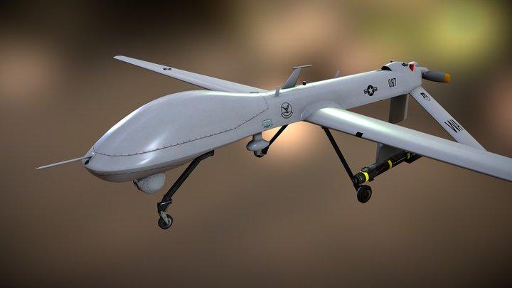 MQ-1A_Predator 3D Model