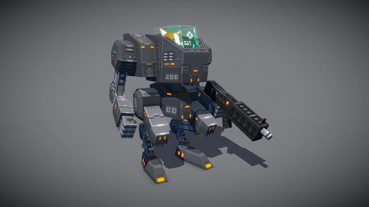 Corgi-san and his robot 3D Model