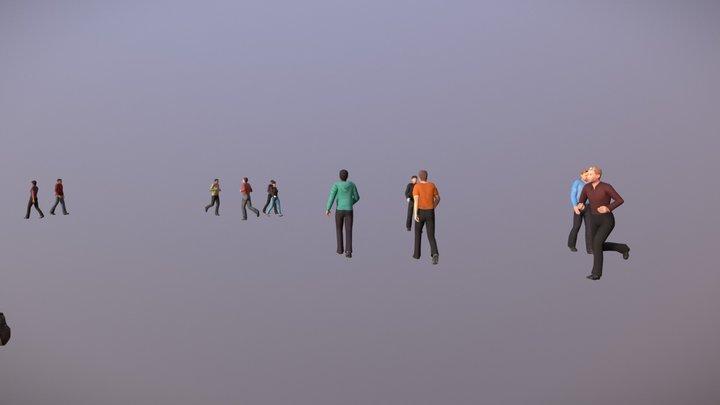 Crowd test 3D Model