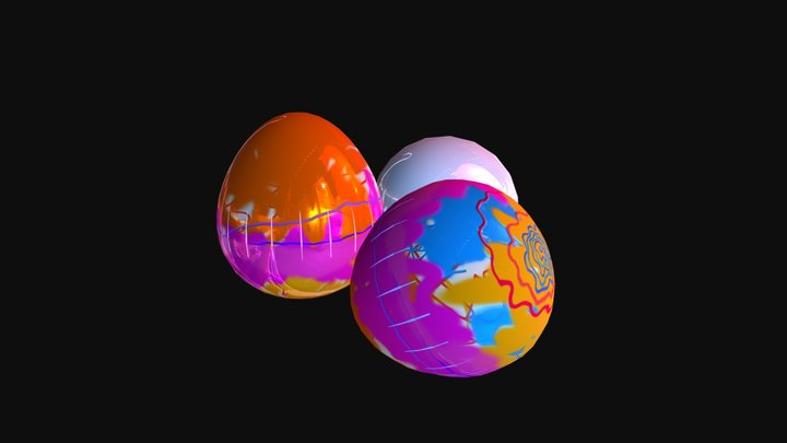 Easter Eggs 3D Model