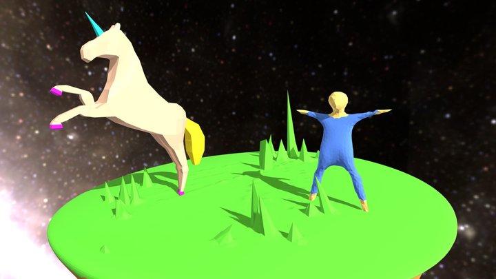 Pandora El Unicornio Y Mundo Viquingo 3D Model