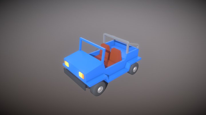 Low Poly Jeep 3D Model