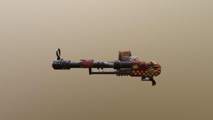 Ork 40k Big Shoota (Looted Autogun) Evil Suns 3D Model
