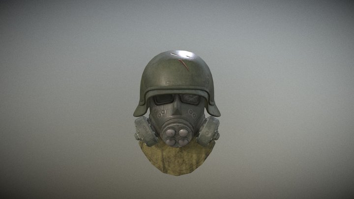 Gas Helmet 3D Model