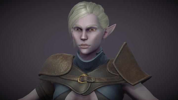Female Dark Elf Rogue (WIP) 3D Model