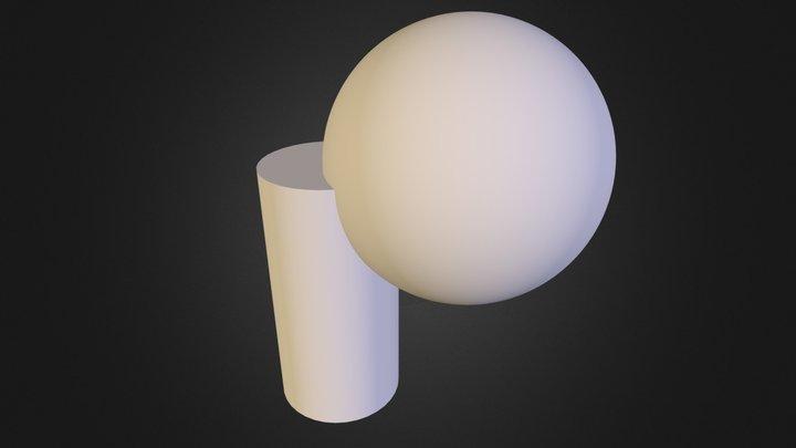 Sphere w/ cylinder 3D Model