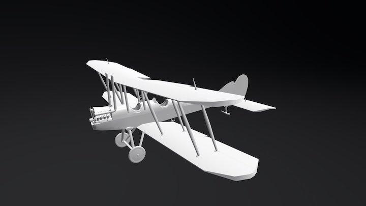 Royal Factory B.E. 2c - First World War Airplane 3D Model