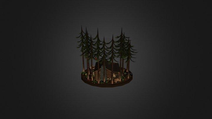 Forest Cabin 3D Model