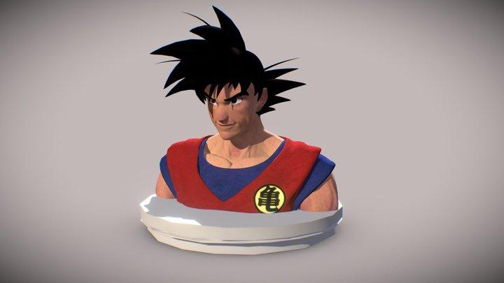 Son Goku fan art 3D Model