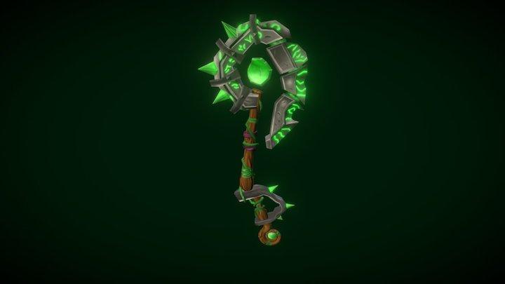 WOW stylized axe 3D Model