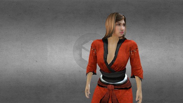 "PERSONAGEM ""JULIANA DIAS"" Ninja Idle 3D Model"