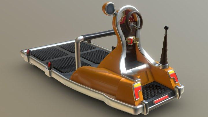 Retro-scifi freight-relocator 3D Model